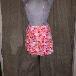 Lilly Pulitzer ASNEW pink Reversible 2 in1 wrap sk